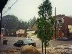 Enlarge: Millburn, NJ roads have become flowing rivers.